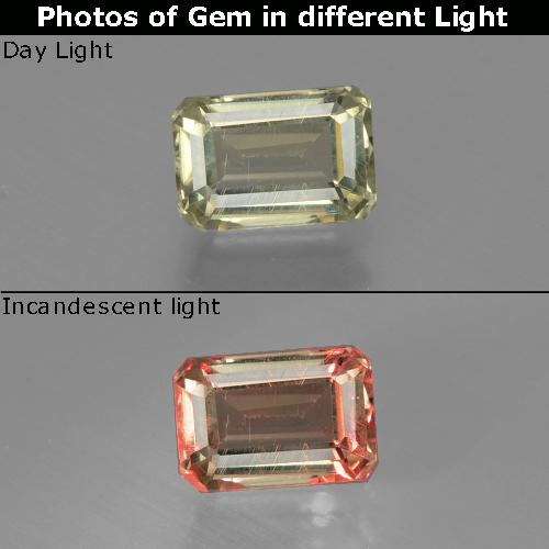 Green to Pink Color-Change Diaspore Gem - 1.1ct Octagon Facet (ID: 397013)