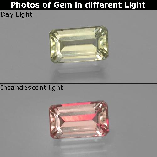 Green to Pink Color-Change Diaspore Gem - 1.1ct Octagon Facet (ID: 397015)