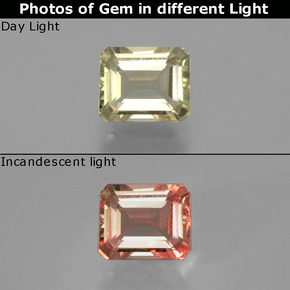 Green to Pink Color-Change Diaspore Gem - 1ct Octagon Facet (ID: 397024)