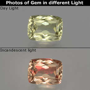 Green to Pink Color-Change Diaspore Gem - 1.1ct Cushion-Cut (ID: 397066)