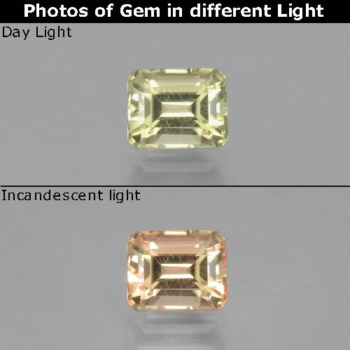 Green to Pink Color-Change Diaspore Gem - 1.1ct Octagon Facet (ID: 397182)