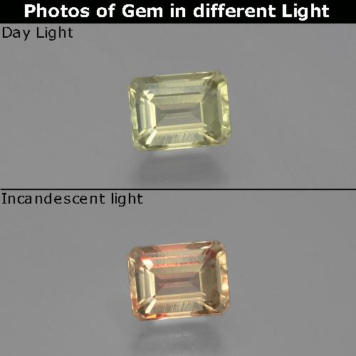 Green to Pink Color-Change Diaspore Gem - 1.1ct Octagon Facet (ID: 397187)