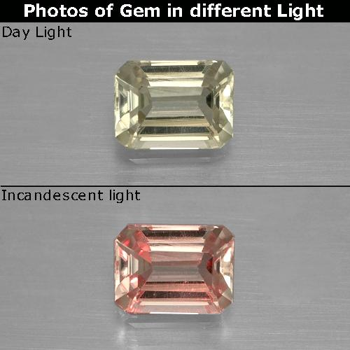 Green to Pink Color-Change Diaspore Gem - 0.9ct Octagon Facet (ID: 397453)