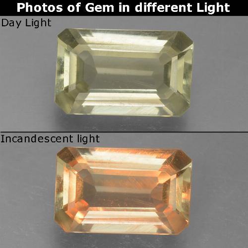 Green to Pink Color-Change Diaspore Gem - 0.9ct Octagon Step Cut (ID: 397456)