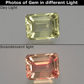 Green to Pink Color-Change Diaspore Gem - 1.2ct Octagon Facet (ID: 397545)