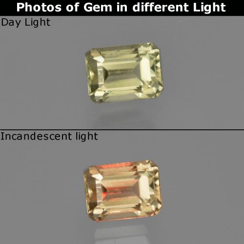 Green to Pink Color-Change Diaspore Gem - 1ct Octagon Facet (ID: 411535)