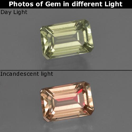 Green to Pink Color-Change Diaspore Gem - 1ct Octagon Facet (ID: 422310)