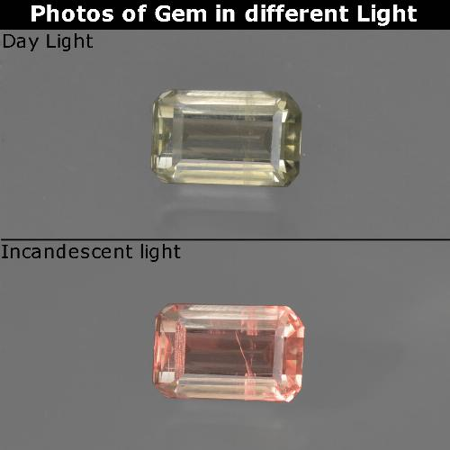 Green to Pink Color-Change Diaspore Gem - 0.6ct Octagon Facet (ID: 422741)