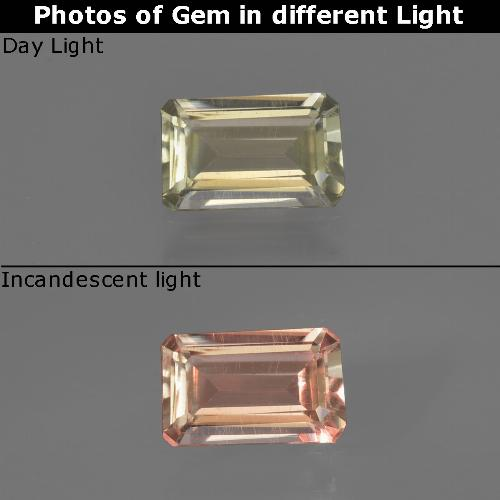 Green to Pink Color-Change Diaspore Gem - 0.6ct Octagon Facet (ID: 422743)