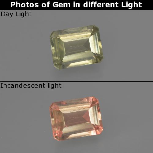Green to Pink Color-Change Diaspore Gem - 0.7ct Octagon Facet (ID: 422746)