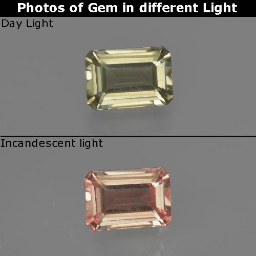 Green to Pink Color-Change Diaspore Gem - 0.6ct Octagon Facet (ID: 422747)