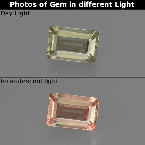 Green to Pink Color-Change Diaspore Gem - 0.6ct Octagon Facet (ID: 422748)