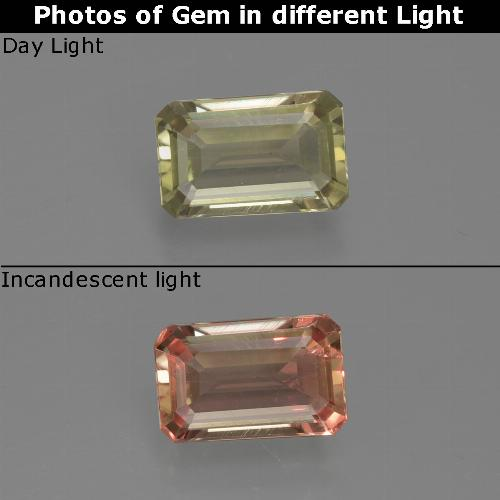 Green to Pink Color-Change Diaspore Gem - 0.7ct Octagon Facet (ID: 422788)