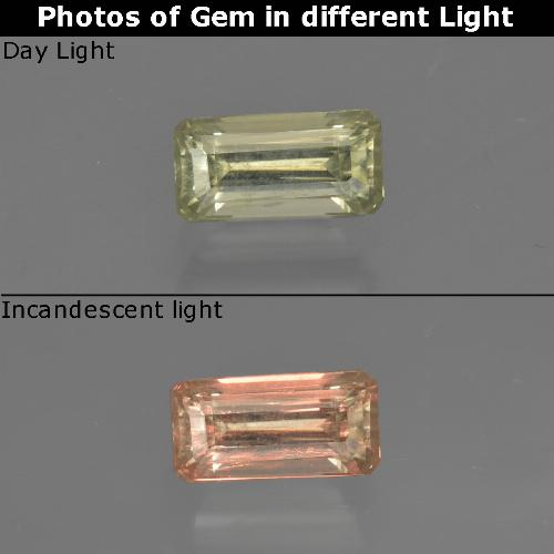 Green to Pink Color-Change Diaspore Gem - 0.7ct Octagon Facet (ID: 422791)