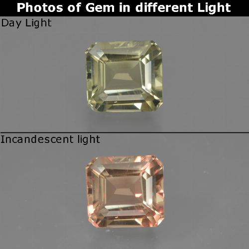 Green to Pink Color-Change Diaspore Gem - 0.7ct Octagon Facet (ID: 422793)