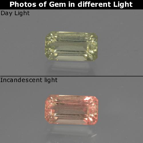 Green to Pink Color-Change Diaspore Gem - 0.8ct Octagon Facet (ID: 422797)