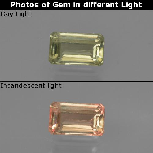 Green to Pink Color-Change Diaspore Gem - 0.7ct Octagon Facet (ID: 422798)