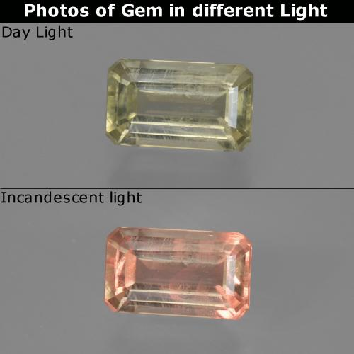 Green to Pink Color-Change Diaspore Gem - 0.8ct Octagon Facet (ID: 422824)