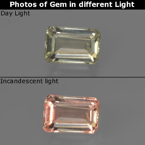 Green to Pink Color-Change Diaspore Gem - 0.8ct Octagon Facet (ID: 422827)