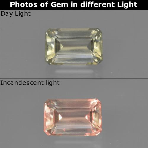 Green to Pink Color-Change Diaspore Gem - 0.9ct Octagon Facet (ID: 422830)