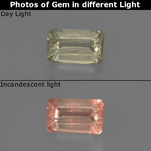 Green to Pink Color-Change Diaspore Gem - 0.9ct Octagon Facet (ID: 422831)