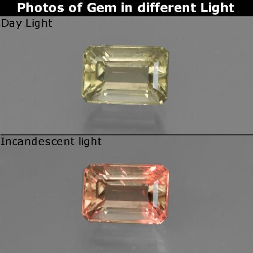 Green to Pink Color-Change Diaspore Gem - 0.9ct Octagon Facet (ID: 422894)