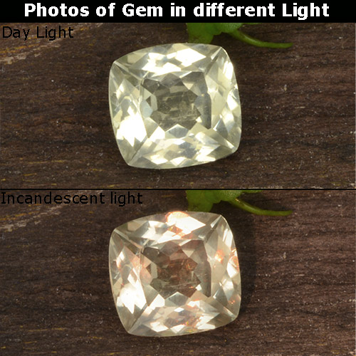 Green to Pink Color-Change Diaspore Gem - 0.8ct Cushion-Cut (ID: 424595)