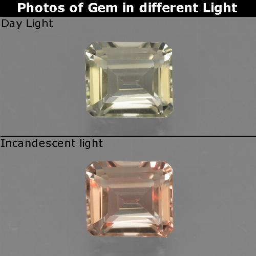 Green to Pink Color-Change Diaspore Gem - 0.9ct Octagon Facet (ID: 424651)