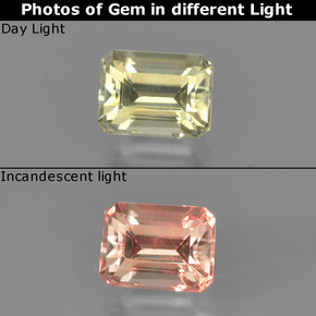 Green to Pink Color-Change Diaspore Gem - 0.7ct Octagon Facet (ID: 424768)