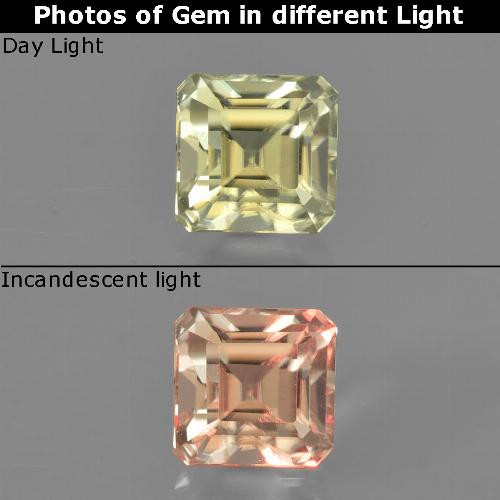Green to Pink Color-Change Diaspore Gem - 0.9ct Octagon Facet (ID: 424772)