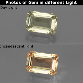0.9ct Octagon Facet Green to Pink Color-Change Diaspore Gem (ID: 437180)