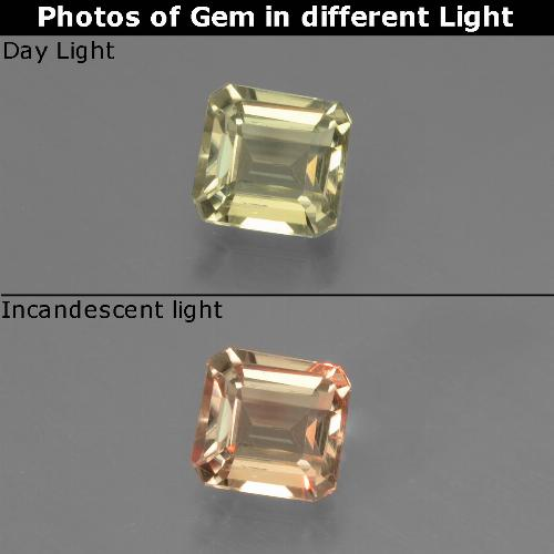 Green to Pink Color-Change Diaspore Gem - 0.7ct Octagon Facet (ID: 439675)