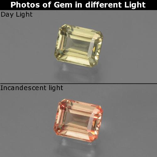 Green to Pink Color-Change Diaspore Gem - 0.9ct Octagon Facet (ID: 439682)