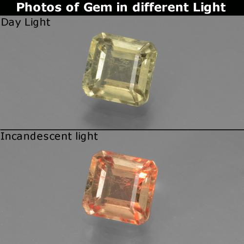 Green to Pink Color-Change Diaspore Gem - 0.9ct Octagon Facet (ID: 439685)