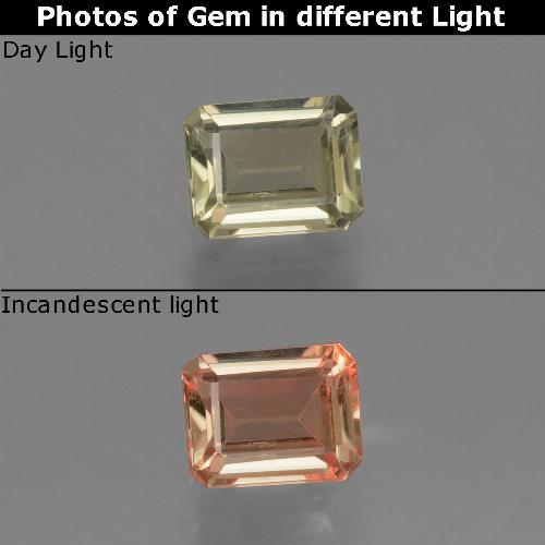 Green to Pink Color-Change Diaspore Gem - 1ct Octagon Facet (ID: 439736)