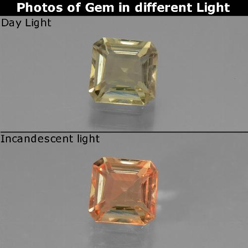 Green to Pink Color-Change Diaspore Gem - 0.8ct Octagon Facet (ID: 439744)