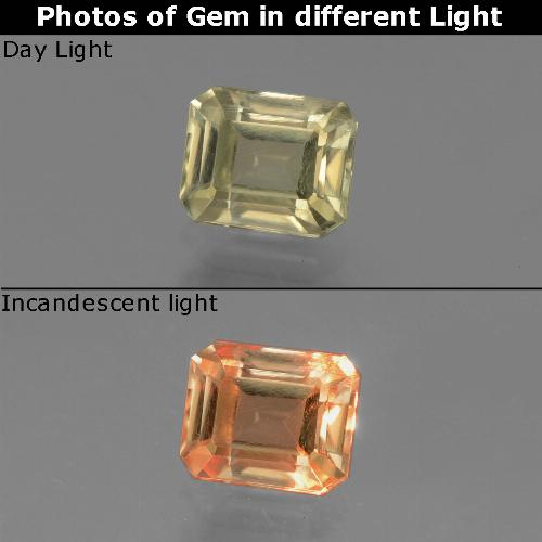 Green to Pink Color-Change Diaspore Gem - 1.2ct Octagon Facet (ID: 439745)