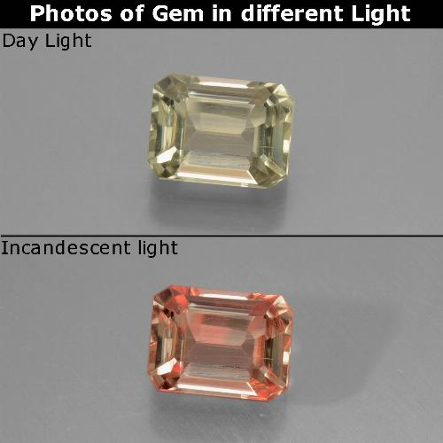 Green to Pink Color-Change Diaspore Gem - 1ct Octagon Facet (ID: 439795)