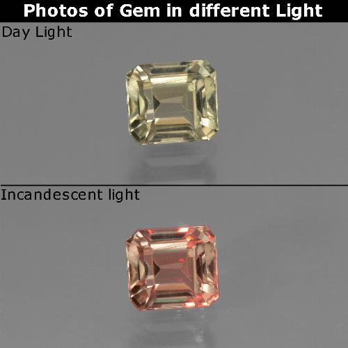 Green to Pink Color-Change Diaspore Gem - 0.8ct Octagon Facet (ID: 439798)