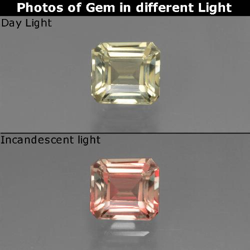 Green to Pink Color-Change Diaspore Gem - 0.9ct Octagon Facet (ID: 439801)