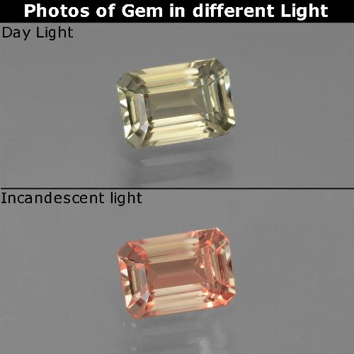 Green to Pink Color-Change Diaspore Gem - 0.9ct Octagon Facet (ID: 439804)