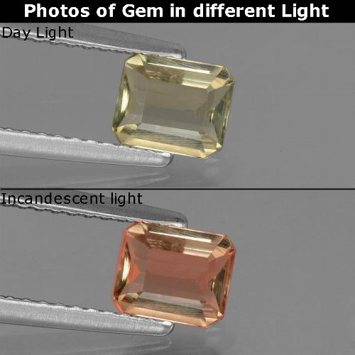 Green to Pink Color-Change Diaspore Gem - 0.7ct Octagon Facet (ID: 439964)