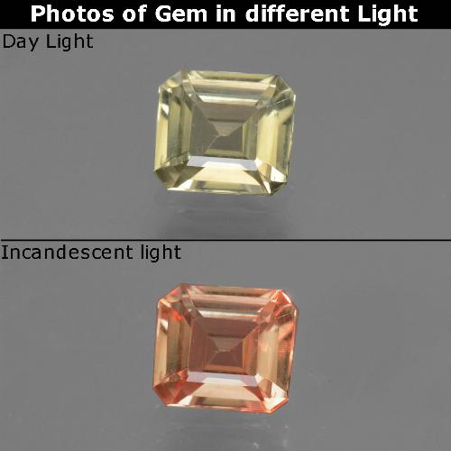 Green to Pink Color-Change Diaspore Gem - 0.7ct Octagon Facet (ID: 439970)