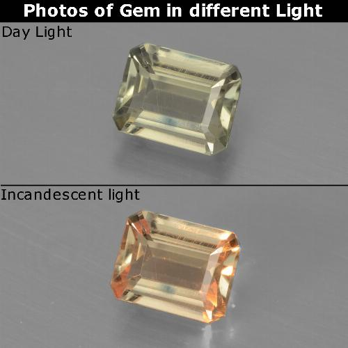 Green to Pink Color-Change Diaspore Gem - 0.8ct Octagon Facet (ID: 440023)
