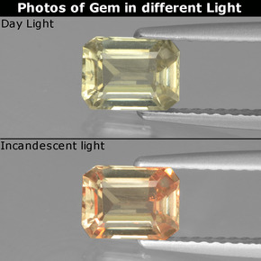 Green to Pink Color-Change Diaspore Gem - 1.1ct Octagon Facet (ID: 440026)