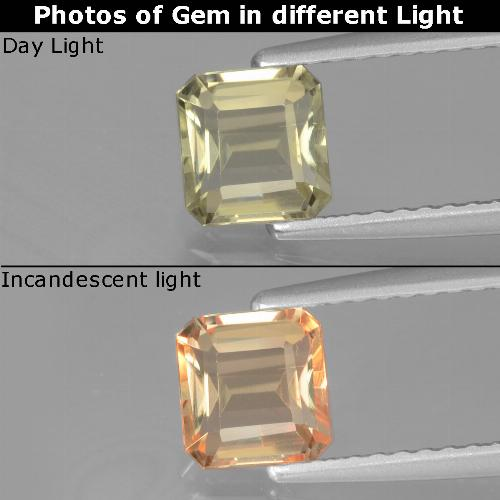Green to Pink Color-Change Diaspore Gem - 0.9ct Octagon Facet (ID: 440027)