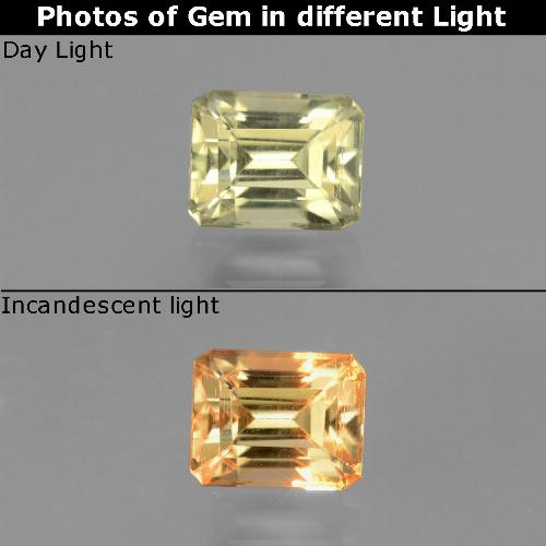 Green to Pink Color-Change Diaspore Gem - 1ct Octagon Facet (ID: 440108)
