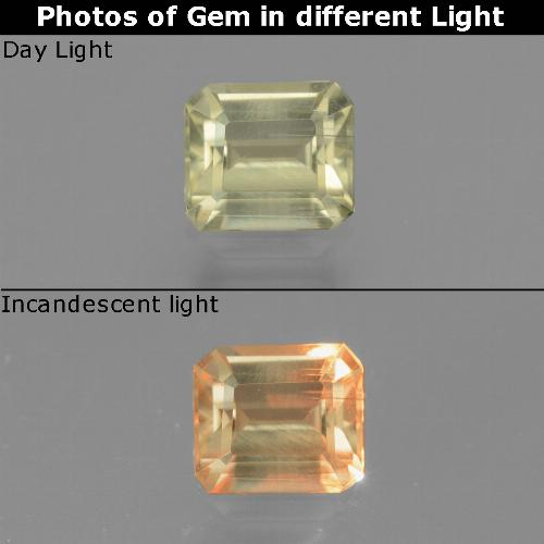 Green to Pink Color-Change Diaspore Gem - 0.8ct Octagon Facet (ID: 440110)