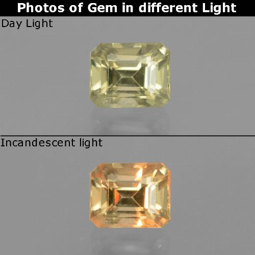 Green to Pink Color-Change Diaspore Gem - 0.9ct Octagon Facet (ID: 440111)