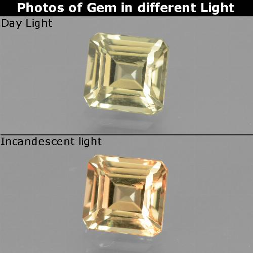 Green to Pink Color-Change Diaspore Gem - 1ct Octagon Facet (ID: 440112)